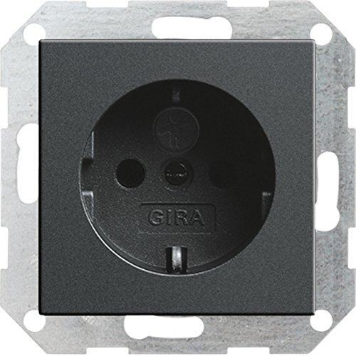 GIRA 045328 SCHUKO-Steckdose mit Kinderschutz System 55 anthrazit