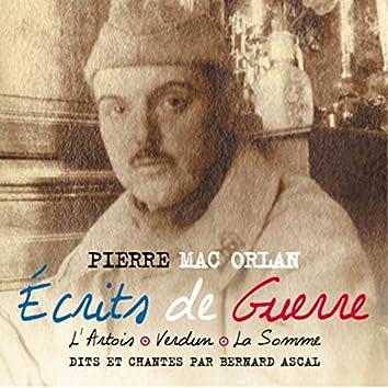 Écrits de guerre de Pierre Mac Orlan (L'artois-verdun-la somme)