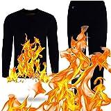 HUANLIAN Sous-vêtements thermiques chauffants USB pour homme et femme avec 2 batteries externes, pour homme et M