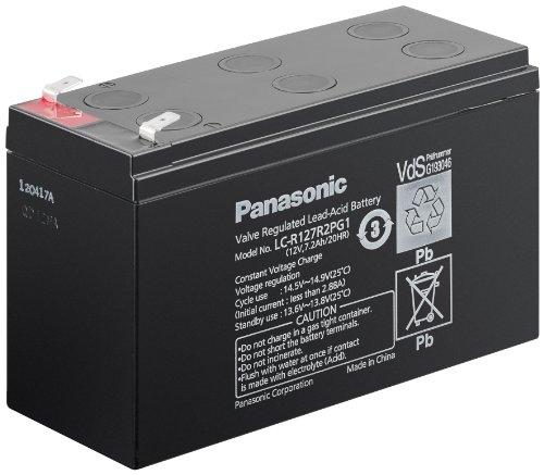 PANASONIC Trickle Design Life 6-9 Years lead acid battery 12 V, 7,2 Ah (LC-R127R2PG1) - Faston (6.35mm) , VdS lead acid battery 12 V, 7,2 Ah (LC-R127R2PG1)Faston (6.35mm) , VdS