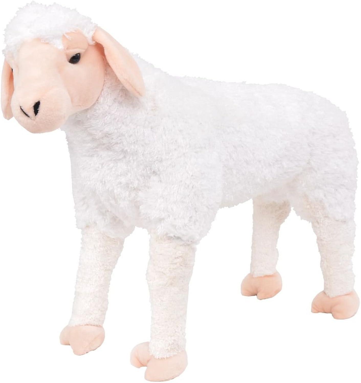 Tidyard Plüschtier Schaf, Stehend, Weiß, XXL 70 x 54 cm (L x H) Max Belastbar  100 kg B07M9TXN5X Wirtschaftlich und praktisch     | Up-to-date Styling