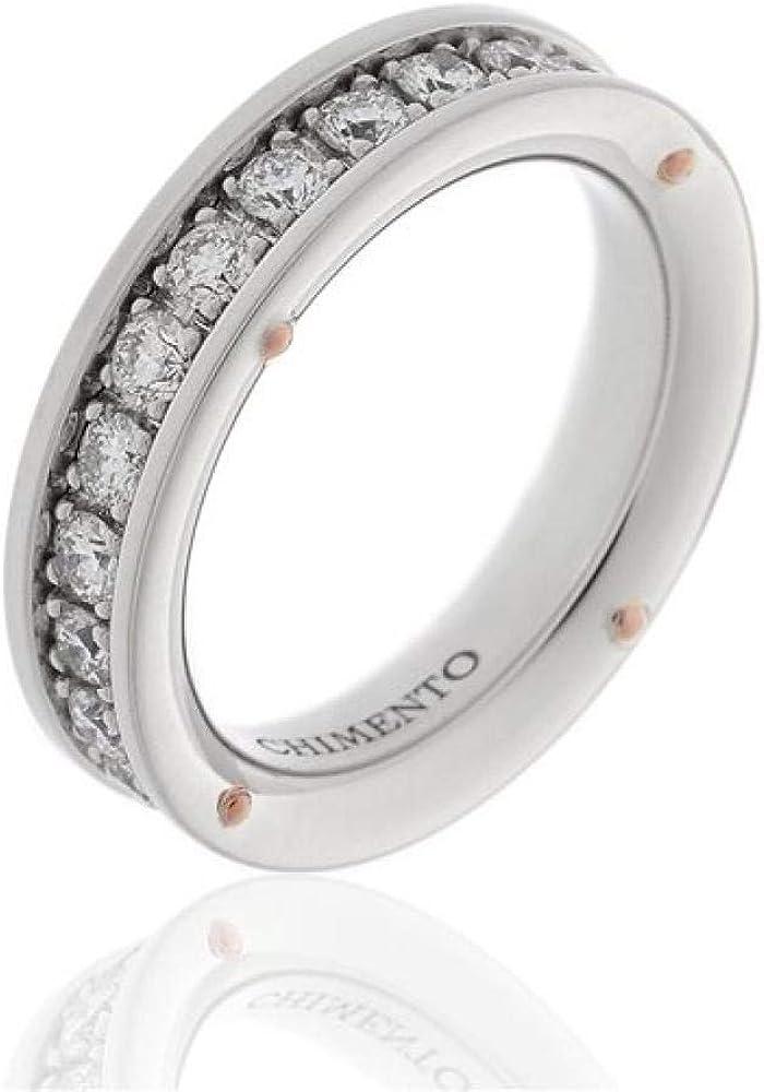 Chimento,anello per donna ,in oro bianco 18 kt(5,3), impreziosito da diamanti 0,6 ct 1A08483B35140