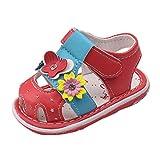 ZORE Zapatos De Bebe Toddler Baby Nuevas Flores Sandalias para Niñas con Sonido...