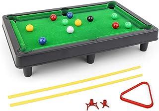 Luorizb Mini portátil de sobremesa Pool Juego Set de Juegos de Billar Juguete con Todos los Accesorios incluidos Uso en el hogar Almacenamiento fácil for Toda la Familia divertirse: Amazon.es: Hogar