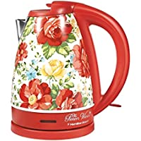 The Pioneer Woman 1.7-Liter Electric Kettle (40972) (Vintage Floral Red)