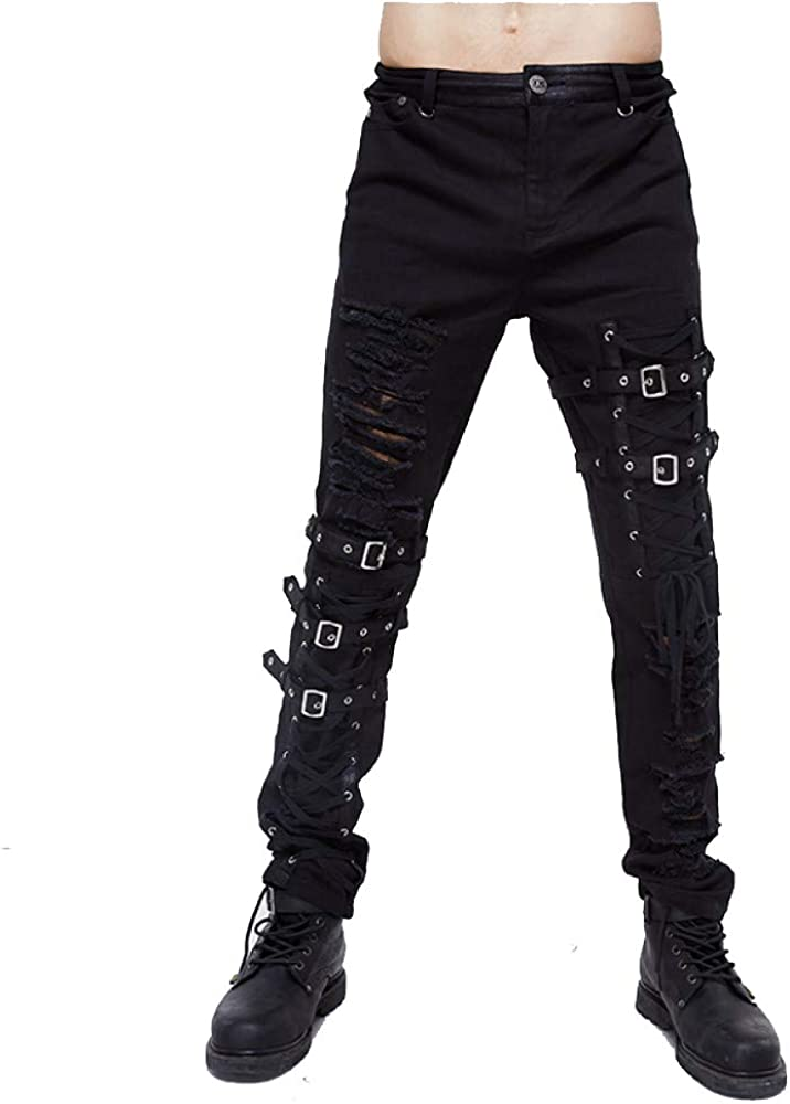 Hip hop Tactical Ranking TOP11 Lace Hole Belt for Clothing In a popularity Gothic Men Pants Bl