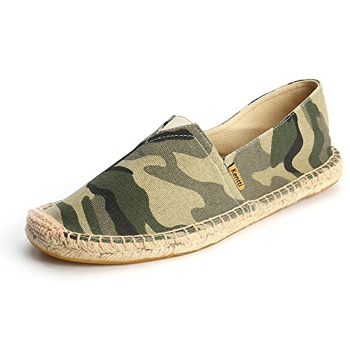 Kentti Camouflage Patroon Canvas Slip On Plat Espadrilles Heren