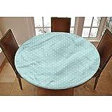 LCGGDB - Mantel ajustable de poliéster con borde elástico moderno - Patrón geométrico elíptico - Pequeño mantel redondo ajustable - Se adapta a mesas de hasta 101 a 111 cm de diámetro, la máxima protección para tu mesa