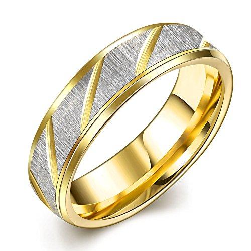 Sieraden Ringen Paar Vrouwen Mannen Key Engagement Bruiloft Band Moderne Gift Goud RVS Sleutel 9 Goud