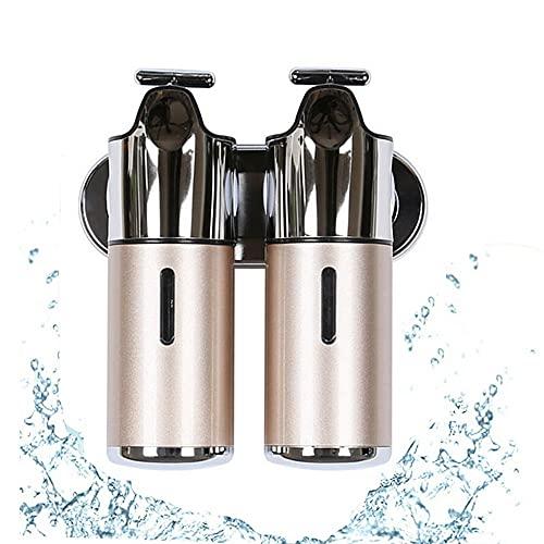 LXLAMP dispensador jabon baño Pared Botes dispensadores plastico, dispensador jabon Pared Adhesivo dispensador de jabon dispensador de jabon baño