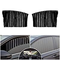 フロントウィンドウ 自動車用汎用サイドウィンドウサンシェード 適用 クライスラー 200 300 pacifica スライドしてプライバシーを保護できる磁気カーテン、防止紫外線断熱カーテン ブラック 2pcs