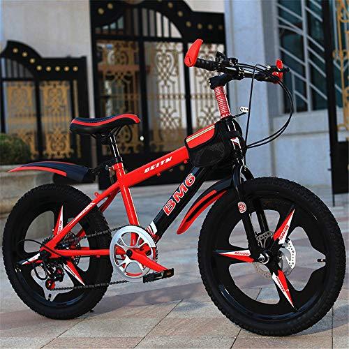 ZJDU Bicicleta Outroad con Marco De Acero Alto,20 '' Bicicletas para Niños,Doble...