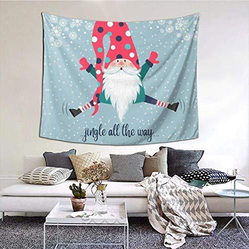 Tapiz de Papá Noel Feliz Navidad, tapiz para dormitorio, sala de estar, manta para colgar en la pared, impresión 3D, decoración del hogar, 60 x 129,5 cm, Elfos Folklore Nordic 9