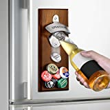 Gifts for Men Dad Fathers Day from Daughter Wife Son, Wall Mounted Magnetic Bottle Opener, Unique Beer Gift Ideas for Him Boyfriend Husband Grandpa, Cool Stuff Gadgets, Birthday Housewarming Presents