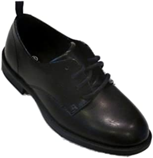 Faded Glory Boys Black Lace Front Dress Shoes Loafers Party Shoes Size 12
