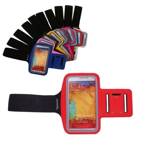 Bralexx - Funda con brazalete para smartphone (compatible con: Samsung Galaxy Note N7000, Note 2 N7100, Note 3 N9000, Samsung Galaxy Note 3 Neo, Acer Liquid Z5, Nokia XL, Huawei Ascend G700, G740, Sony Xperia Z2, Z1, Z, LG Optimus G Pro (E986), LG Optimus G Pro lite, Archos 50 Platinum, Alcatel One Touch Idol X)