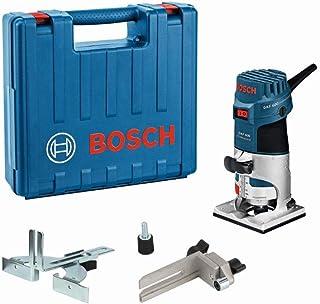 Bosch Professional kantfräs GKF 600 (med U-nyckel, styrskena, styrning, spännhylsor 6 + 8mm, i hantverkarväska)