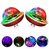USB Mini Disco Ball Light, Voice Control Party Light, Mini Portable Strobe Light, LED car USB Atmosphere Light, Suitable for Christmas/Halloween/Home Interior, etc, red (2 pcs)