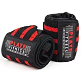 Wrist Wraps (Premium Quality, 21' x 3') by Plate Fitness Products – Superior Materials – Weight...