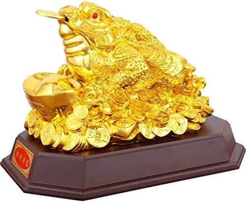 Feng Shui Símbolo Riqueza Dinero Sapo/Rana/Chan CHU Estatua Moneda la Fortuna Encanto la Prosperidad Decoración Decoración Mesa Adornos Good Lucky Gifts Lucky Figurine