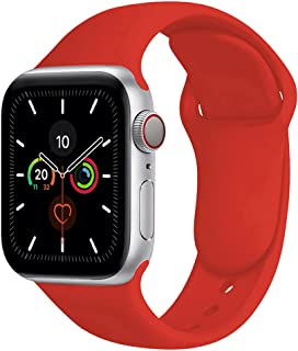 Compatible with Apple Watch Band 38mm 40mm,Soft Silicone Fitness Replacement Accessories Straps Wristbands for iWatch Band...