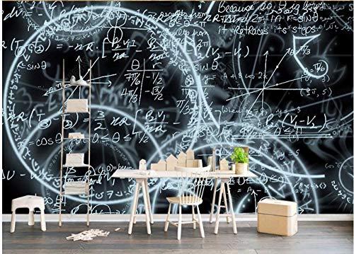 Papel De Pared 3D Tnt Murales Fondo Artístico De Tema Matemático En Blanco Y Negro Papel Pintado Pared Foto Mural Pared Decorativos 200X140Cm