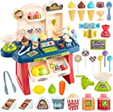 Brand conquer Educational Early Development Pretend Play Mini Supermarket,Cash Register,Shopping Cart Toy Set,Pack of 33 Pieces,ABS Plastic (Multi Color) (Mini Market)