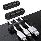 SOULWIT ケーブルホルダー ケーブルクリップ デスク コンピュータデスク USBデータケーブル マウスライン キーボードライン 充電ケーブル ヘッドフォンケーブルの整理に適し 片づけ 優れるシリコン 高品質3M両面テープ 3本入れ [3 3 3穴]