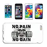Helene Coque de protection rigide pour iPhone 6S NO Pain NO Gain Fitness Musculation Gym