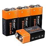 Batería Recargable Li-Ione Hixon 9V 850mAh para Sistema de Alarma Multímetro Detector de Humo…