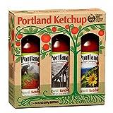 Portland Organic Ketchup Gift Box by Portlandia Foods (14 fl oz - pack of 3) Naturally Gluten-free, Vegan, non-GMO, Made in Oregon USA