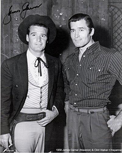 CLINT WALKER & JAMES GARNER (Autographed by Garner Cheyenne & Maverick MAV-04