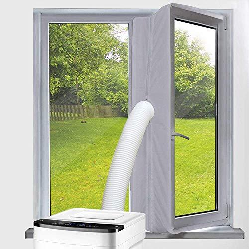Vegena Fensterabdichtung Für Mobile Klimageräte, Klimaanlage Abluft-Wäschetrockner Trockner Bautrockner Ablufttrockner Luftentfeuchter Hot Air Stop Für Fenster Kippfenster Dachfenster 400cm