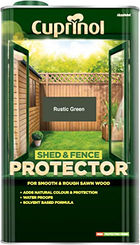 Cuprinol 5L Shed and Fence Protector - Rustic Green