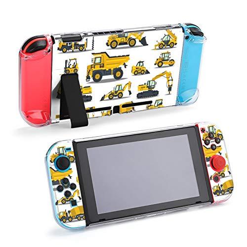 Carretillas Elevadoras, grúas, excavadoras, Tractores, topadoras, Camiones Estuche para Nintendo Switch Estuche Protector de Goma con Agarre Mejorado