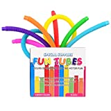 Special Supplies 16-Pack Fun Pull Pop and Fun Tubes for Kids Stretch, Bend, Build, and Connect Toy, Provide Tactile and Auditory Sensory Play, Colorful, Heavy-Duty Plastic