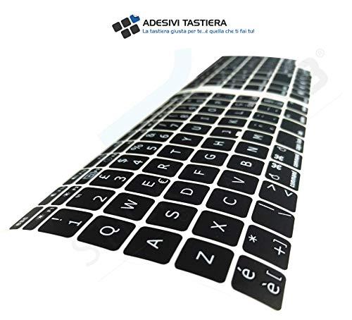 AdesiviTastiera.it - Adesivi tastiera Italiano Apple MAC book AIR/PRO - Nero