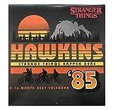 Stranger Things Hawkins Indiana Retro 1980s - 16 Month 2021 Wall Calendar