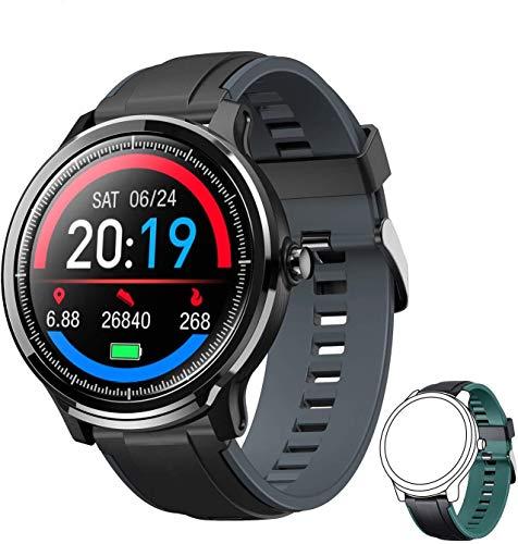 SmartWatch,Reloj Inteligente Impermeable IP68,Bluetooth Relojes Pulsera Actividad Monitor de Sueño Calorías Podómetro Pulsómetro Notificación de Llamada y Mensaje para Hombre Mujer para iOS/Android
