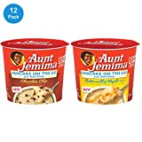 Quaker Aunt Jemima Pancake Cups, 2 Flavor Variety Pack, 12 Individual Cups