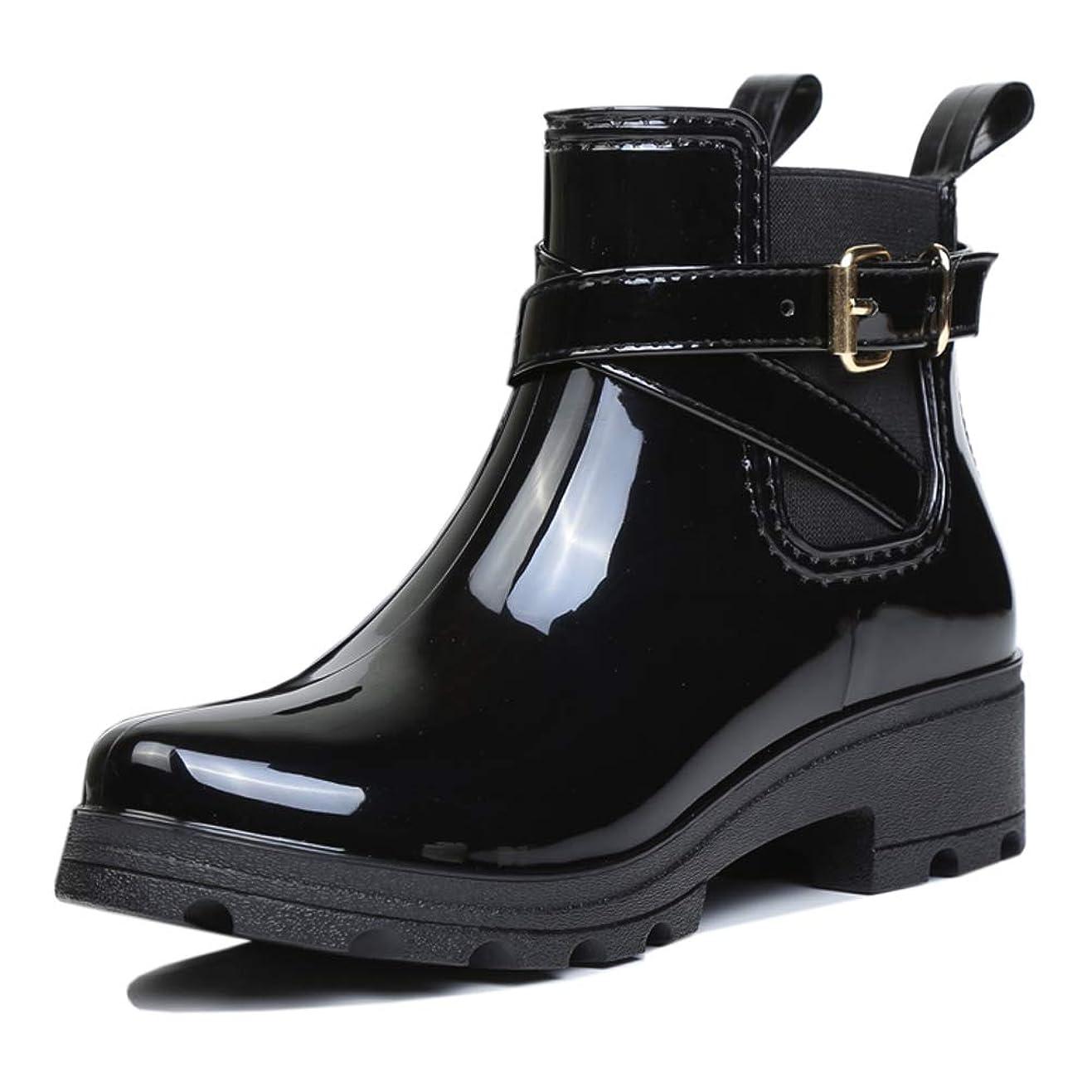 半球投資帰る[uirend] Shoesレインブーツ レディース ウェリントンブーツ ラバーブーツ アンクルウェルズ ファッション ショート 防水 UK4-7(23.5~26.0㎝あり) サイズ(