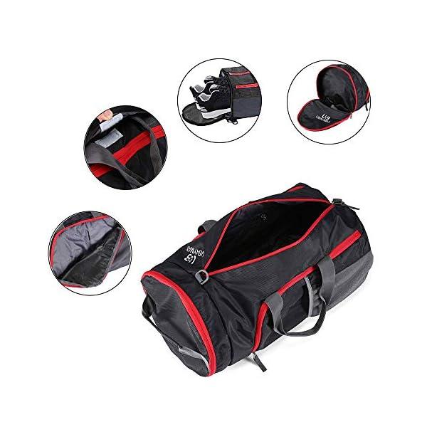 Fitness Tote Large Capacity 32L UBAYMAX Sacs de Sport Grand forUBaymax Foldable Gym Bag Sports Tote//Gym//Vacations//Football//Weekend//Campingmat Womens Waterproof Nylon Travel Tote