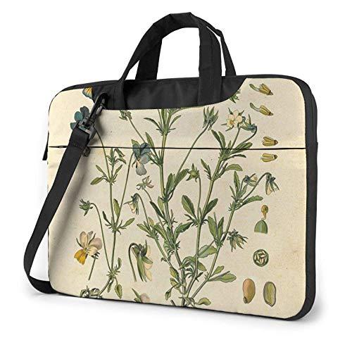 Wild Floral Laptop Bag Messenger Bag Briefcase Satchel Shoulder Crossbody Sling Working Bag