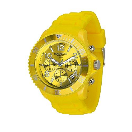 MADISON NEW YORK Herren Uhr Candy Time® Chrono Gelb OneSize