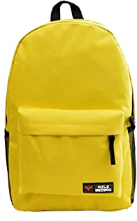 HMJZLyy Fashion New Solid Color Backpack Men and Women Students Backpack Bag Jane Backpack Travel Bag (Color : Yellow)