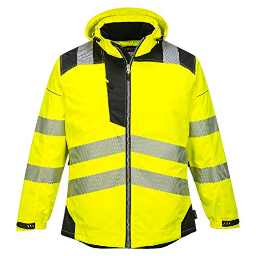 Portwest PW3 Hi-Vis Winter Jacket Work Safety Protective Reflective Waterproof Coat ANSI 3, 6XL