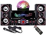 Altoparlante, soundbar con subwoofer Bluetooth Wireless 360 ° Surround 2 microfoni Supporto Ingresso USB AUX TF per TV di casa