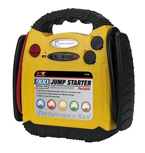 Performance Tool W1665 900 Amp Jump Starter, Inflator, Portable Power Unit