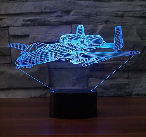 Lámpara LED de luz nocturna 3D, funciona con USB, 7 colores, interruptor táctil, decoración de recámara, Halloween, Navidad, día de San Valentín, dormitorio, sala de estar, bar, cafetería, restaurante, lámpara LED