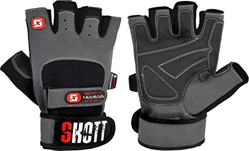 Nemesis Evo Weight Lifting Gloves with Integrated Wrist Wrap Support - Double Stitching for Extra Durability - Workout with The Best Body Building Fitness and Gym Exercise Accessories (X-Large)